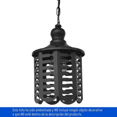 Farol Colgante 1 Luz Rosca E27 60w Negro