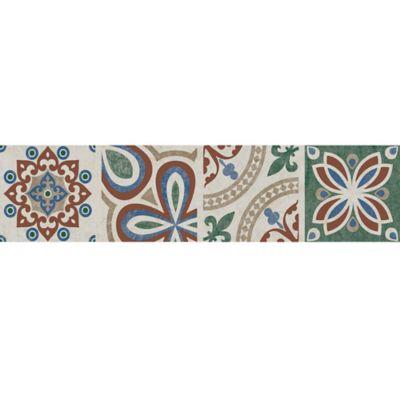 Cenefa Cerámica Bailen 10.5x45.8 Centímetros Multicolor