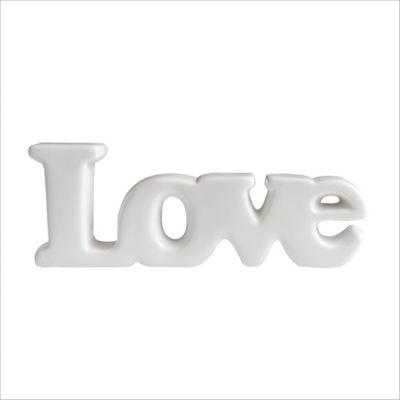 Escultura Love Australia 8.2 cm Blanco