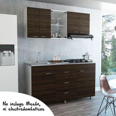 Cocina Integral Lumina 1.50 Metros 8 Puertas 3 Cajones Amaretto
