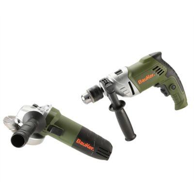 Combo Taladro Percutor 1/2-pulg 750W + Pulidora 4-1/2 820W