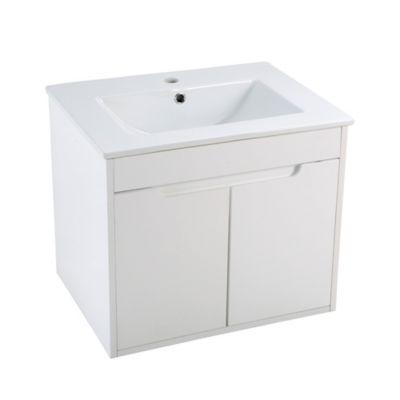 Mueble de baño Almada Blanco Brillante 46x60x50cm con lavamanos