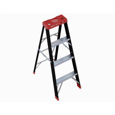 Escalera en Aluminio Negra 1.17mt 3 Pasos Carga Máx. 92 Kilos