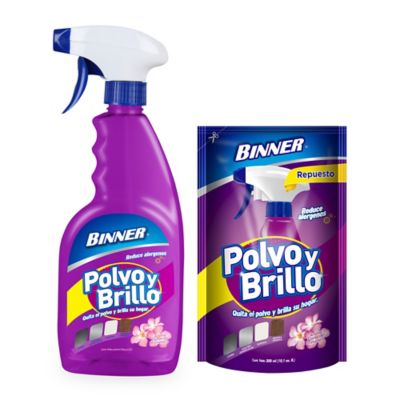 Polvo Brillo 500 ml + Repuesto 300 ml Flor De Primavera