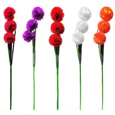 Vara Pompón x 3 Flores Artificial