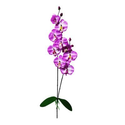 Vara Artificial De Orquídea Con Hoja