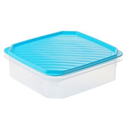 Recipiente 1.3Lt Cuadrado Tapa Azul