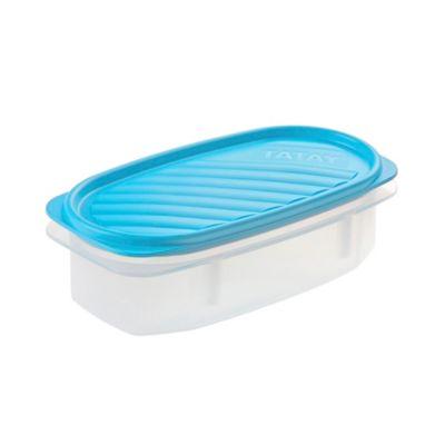 Recipiente 0.5Lt Ovalado Tapa Azul