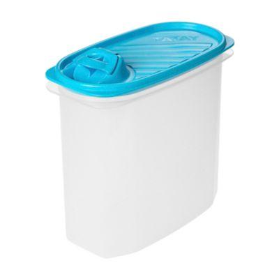 Recipiente 2Lt Ovalado Dispensador Tapa Azul