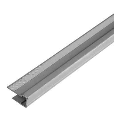 Perfil U de Remate 6mm 2.10m Aluminio