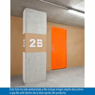 Puerta Metálica Evita Galv 0.80x2.10 Mts. - Ap. Derecha Cal 20