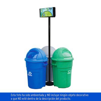 Punto Ecologico 121 Lt. Verde-Gris -Azul