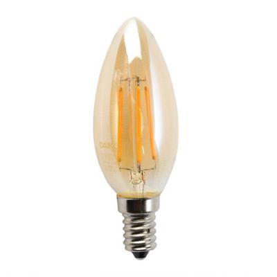 Bombillo LED Vintage Vela 4w 2200K E14 Luz Ámbar