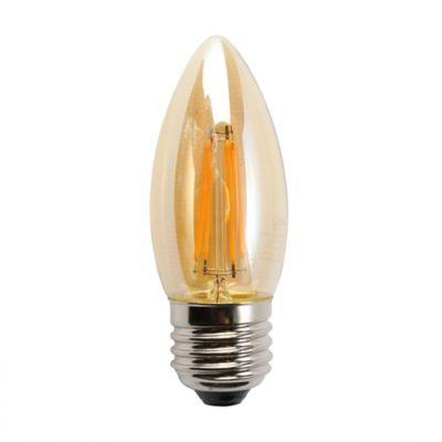 Bombillo LED Vintage Vela 4w 2200K E27 Luz Ámbar