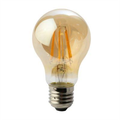Bombillo Filamento LED A60 490 Lúmenes 6w E27 Luz Amarilla