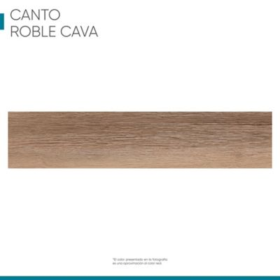 Canto Rigido 22 mm X 1 m Roble Cava