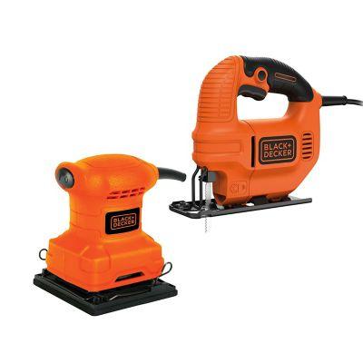Combo Sierra Caladora 420W + Lijadora 1/4-pulg 200W
