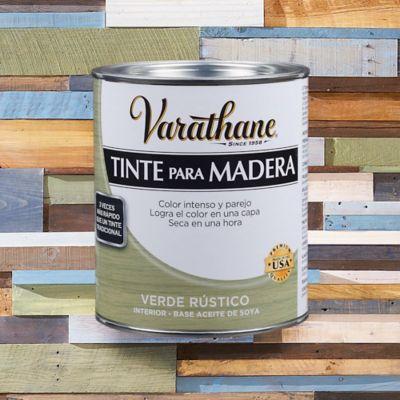 Tinte Secado Rapido Efecto Envejecido  1/4 de Galón Verde Rustico