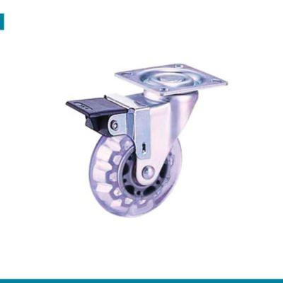 Rodachina Plataforma PVC Azul con Freno Carga