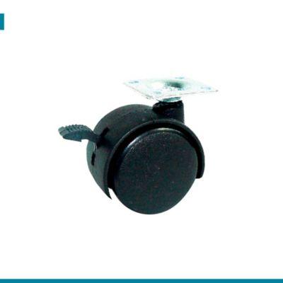 Rodachina Plataforma Negra con Freno 50mm