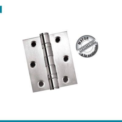 Bisagra Puerta Gama Alta Acero Inox 3X3pulg 2mm