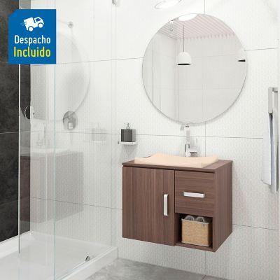 Mueble de baño Monet Elevado 63X48 cm con lavamanos Sahara Beige