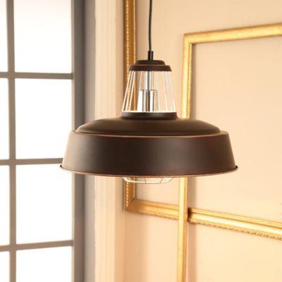 Lámpara Colgante 1 Luz 27 Vint Rejas Negro
