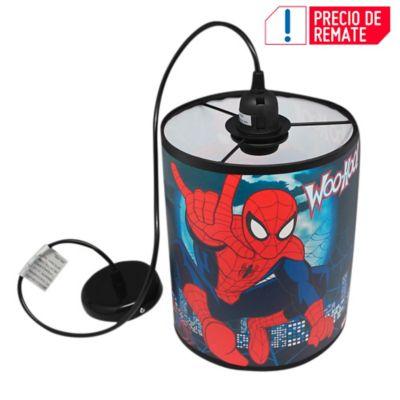 Lámpara Colgante Redonda Spiderman 1 Luz Rosca E27 Estampada