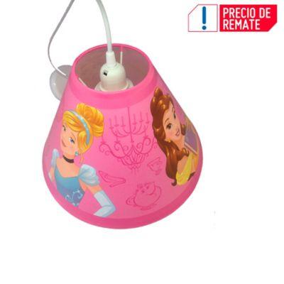 Lámpara Colgante Cónica Princesas 1 Luz Rosca E27 Estampada