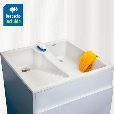 Lavadero Constru 60 x 60 cm- Blanco Brillante