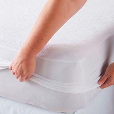 Protector para Colchón Impermeable y Ajustable Sencillo Blanco