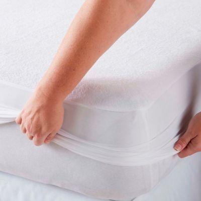 Protector para Colchón Impermeable y Ajustable Queen Blanco
