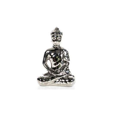Escultura Buda Sentado  Zen  20.5 cm Plata