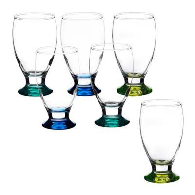 Set x 6 Copas  de Agua Fondo Color de 355 cc