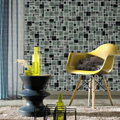Mosaico Vidrio Line Dark/Grey 30X30cm
