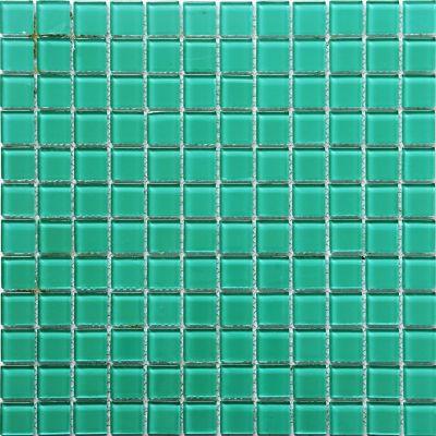 Mosaico Vidrio Verde Oscuro 4mm 30X30cm