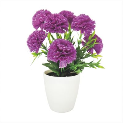 Flor Artificial Clavel 23 X 28 cm