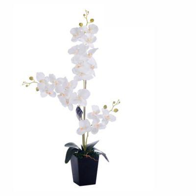 Flor Artificial Orquídea Blanca