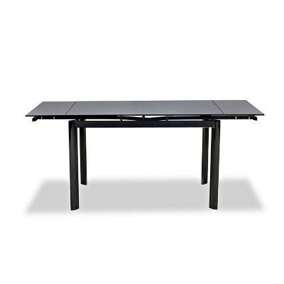 Mesa en Vidrio Extensible de 120 hasta 180 cm Negra