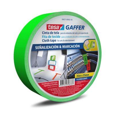 Cinta Gaffer Verde Fluorecente 25M x 25mm