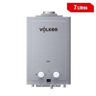 Calentador 7 Litros Tiro Natural A Gas Natural 33X49X15 Plateado