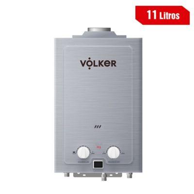 Calentador 11 Litros Tiro Natural A Gas Natural 36X63X15 Plateado