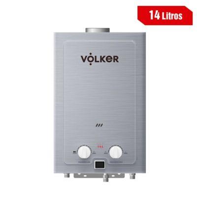 Calentador 14 Litros Tiro Natural A Gas Natural 41X68X22 Cm Plateado