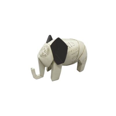 Escultura Elefante Arabia 12.5 cm Beige