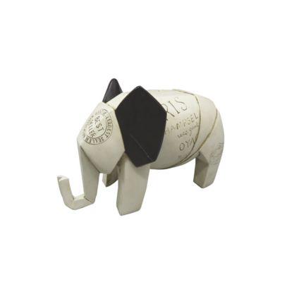 Escultura Elefante Arabia 14 cm Beige