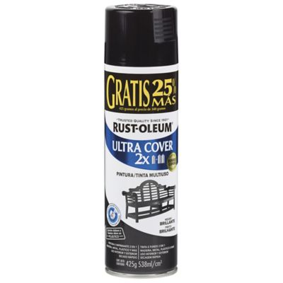 Aerosol Ultracover 2X Extra Negro Brillante 538ml