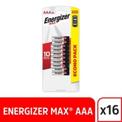 Pilas AAA Alcalina Energizer Max x16und