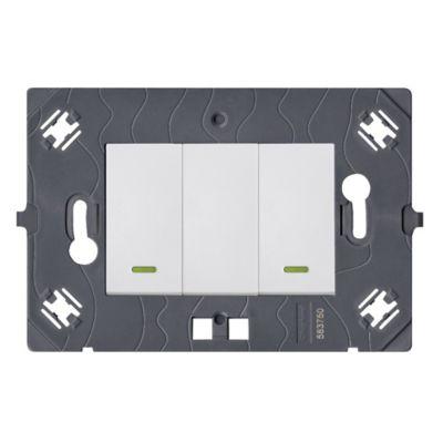 Interruptor Doble Conmut Cuadrado Blanco Arteor
