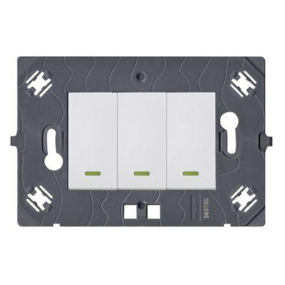 Interruptor Triple Cuadrado Blanco Arteor