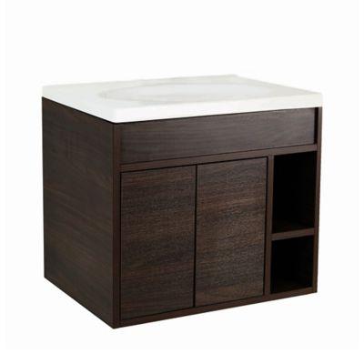 Mueble de baño Trantra Roble Aumado 80 cm con lavamanos Elipse
